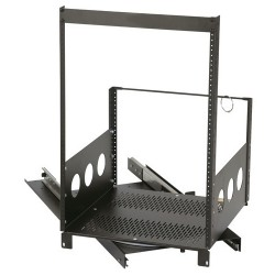 "Chief - ROTR-XL-14 - Raxxess 14U Extra Deep Pull-Out and Rotating Rack - 19"" 14U Wide x 18.44"" Deep for A/V Equipment, Server - Black - Steel - 300 lb x Maximum Weight Capacity"