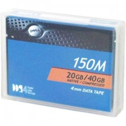 Dell - 340-1896 - Dell-IMSourcing DS DDS-4 Data Cartidge - DDS-4 - 20 GB (Native) / 40 GB (Compressed) - 492.13 ft Tape Length - 1 Pack