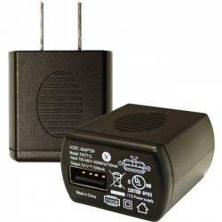 Socket Communications - AC4065-1499 - Socket CHS Series 8 AC Adapter USB; 100-240V; 5V/1A (NA & Japan) - 120 V AC, 230 V AC Input Voltage - 5 V DC Output Voltage - 1 A Output Current