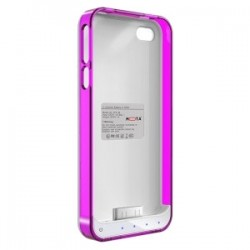 Mota / UNorth - AP4-15CP - TAMO iPhone 4/4s Extended Battery Case - Pink - iPhone - White, Clear, Pink