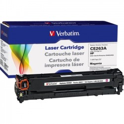 Verbatim / Smartdisk - 98337 - Verbatim Remanufactured Laser Toner Cartridge alternative for HP CE263A Magenta - Laser - 1 Pack