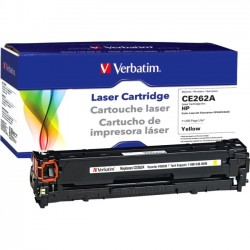 Verbatim / Smartdisk - 98338 - Verbatim Remanufactured Laser Toner Cartridge alternative for HP CE262A Yellow - Laser - 11000 Page - 1 Pack