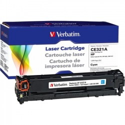 Verbatim / Smartdisk - 98335 - Verbatim Remanufactured Laser Toner Cartridge alternative for HP CE321A Cyan - Laser - 1300 Page - 1 Pack