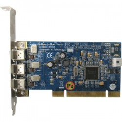 Global Marketing Partners - 1705 - Unibrain Fireboard-Blue with Built-in FireAPI/Fire-i API SDK License - PCI - Plug-in Card - 3 Firewire Port(s) - 3 Firewire 400 Port(s)