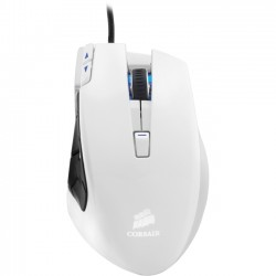 Corsair - CH-9000026-NA - Corsair Vengeance M95 Laser Gaming Mouse - Laser - Cable - Arctic White - USB - 8200 dpi - Scroll Wheel - 15 Button(s) - Right-handed Only