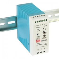 IMC Networks - MDR-40-24 - B+B 40W Single Output Industrial DIN Rail Power Supply - 220 V AC, 110 V AC Input Voltage - DIN Rail - 88% Efficiency - 40 W