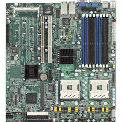 Tyan Computer - S5360G2NR-D-1UR - Tyan Thunder (S5360-D-1U) Server Motherboard - Intel Chipset - Socket PGA-604 - Retail Pack - Extended ATX - 2 x Processor Support - 16 GB DDR SDRAM Maximum RAM - 333 MHz Memory Speed Supported - 8 x Memory Slots - Floppy