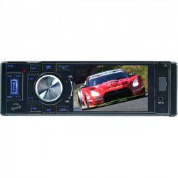 Supersonic - SC-305 - Supersonic SC-305 Car DVD Player - 3.5 LCD - 4 Channels - DVD Video, Video CD, MPEG-4 - AM, FM - USB - Auxiliary Input