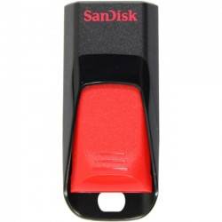 SanDisk - SDCZ51-064G-A46 - SanDisk Cruzer Edge USB Flash Drive - 64 GB - USB 2.0 - Black, Red