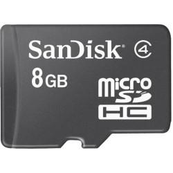 SanDisk - SDSDQ-008G-A46 - SanDisk 8 GB microSDHC - Class 4 - 1 Card