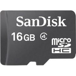 SanDisk - SDSDQ-016G-A46A - SanDisk 16 GB microSDHC - Class 4 - 1 Card