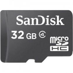 SanDisk - SDSDQ-032G-A46 - SanDisk 32 GB microSDHC - Class 4 - 1 Card