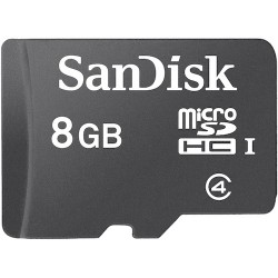 SanDisk - SDSDQB2-008G-AW46 - SanDisk 8 GB microSDHC - Class 42 Pack