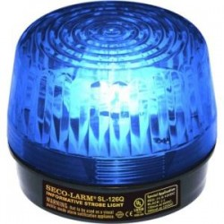 SECO-LARM - SL-126-A24Q/B - Enforcer Strobe Light, 6~24VDC, Blue - Wired - 24 V DC - Visual - Blue, Black