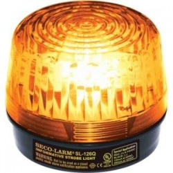 SECO-LARM - SL-126-A24Q/A - Enforcer Strobe Light, 6~24VDC, Amber - Wired - 24 V DC - Visual - Amber, Black
