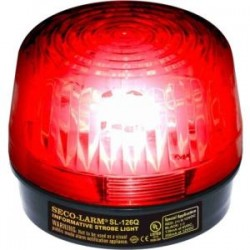 SECO-LARM - SL-126-A24Q/R - Enforcer Strobe Light, 6~24VDC, Red - Wired - 24 V DC - Visual - Red, Black