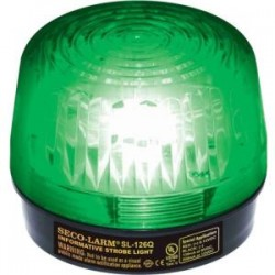 SECO-LARM - SL126Q/G - Seco-Larm Strobe Light, 6~12VDC, Green, UL - Wired - 12 V DC - Visual - Green, Black