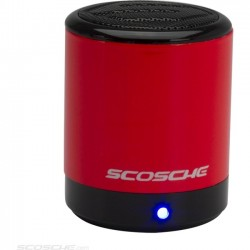 Scosche - BTCANRD - Scosche boomCAN Speaker System - 2 W RMS - Wireless Speaker(s) - Portable - Battery Rechargeable - Red - 30 ft - Bluetooth - USB - iPod Supported