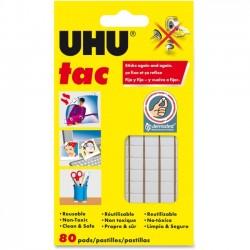 Staedtler Mars - 99683 - Staedtler UHU Tac Adhesive Squares - Residue-free, Non-toxic, Reusable - 1 Pack - White