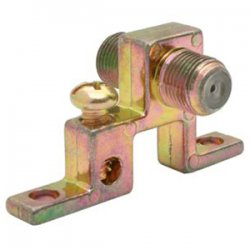 Steren Electronics - 200-271 - Steren Single F Grounding Block - 900MHz - 75Ohm - F-type - Female