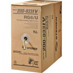 Steren Electronics - 200-933BK - Steren RG6/U Coaxial Drop Cable - 1000ft - Black