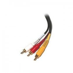 Steren Electronics - 206-273 - Steren Audio/Video Cable - RCA Male - RCA Male - 3ft - Black
