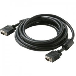 Steren Electronics - 253-306BK - Steren VGA/SVGA Cable with Ferrite - HD-15 Male - HD-15 Male - 6ft - Black