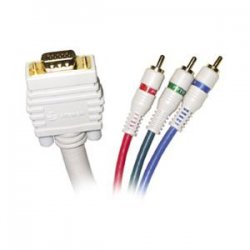 Steren Electronics - 253-512IV - Steren Python HDTV SVGA Component Cable - HD-15 Male - BNC Male - 12ft - Ivory