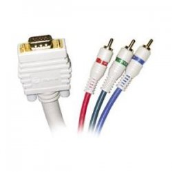 Steren Electronics - 253-525IV - Steren Python HDTV SVGA Component Cable - HD-15 - RCA Male - 25ft - Ivory