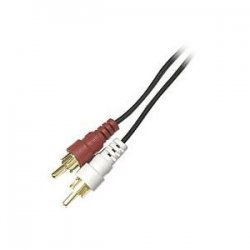 Steren Electronics - 255-131 - Steren Audio Patch Cable - RCA Male - RCA Male - 12ft - Black