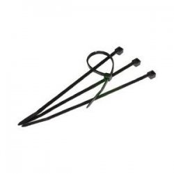 Steren Electronics - 400-812BK - Steren Black Cable Ties - Cable Tie - Black