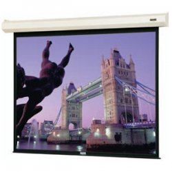 "Da-Lite - 79013L - Da-Lite Cosmopolitan Electrol Projection Screen - 58"" x 104"" - Matte White - 119"" Diagonal"