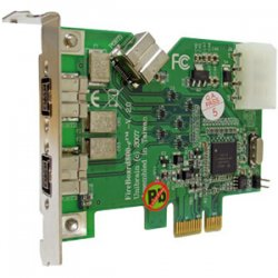 Global Marketing Partners - 1232 - Unibrain FireBoard800-e V.2 3 Port FireWire Adapter - 2 x 9-pin IEEE 1394b FireWire External, 1 x 6-pin IEEE 1394a FireWire Internal - Plug-in Card - Bulk