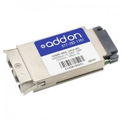 AddOn - C6400-GBIC-LHLX-AO - AddOn Cisco C6400-GBIC-LHLX Compatible TAA Compliant 1000Base-LX GBIC Transceiver (SMF, 1310nm, 10km, SC) - 100% compatible and guaranteed to work