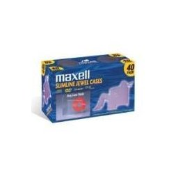 Maxell - 190074 - Maxell CD-365 Slimline Jewel Cases - Jewel Case - Book Fold - Clear