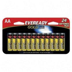Energizer - A91BP24HT - Energizer Gold Alkaline AA Batteries - AA - Alkaline - 1.5 V DC - 24 / Pack