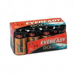Energizer - A938 - Eveready Gold Alkaline C Batteries - C - Alkaline - 8 / Pack