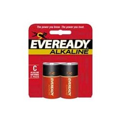 Energizer - A93BP-2 - Eveready C Alkaline General Purpose Battery - Alkaline - 1.5V DC
