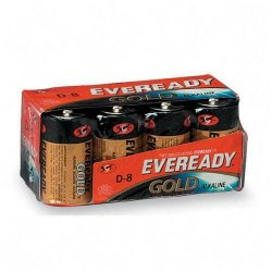 Energizer - A95-8 - Eveready Gold Alkaline D Batteries - D - Alkaline - 1.5 V DC - 8 / Pack