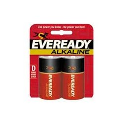 Energizer - A95BP-2 - Eveready Size D Gold Alkaline General Purpose Battery - Alkaline - 1.5V DC