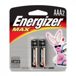 Energizer - E92BP-2 - Energizer Alkaline AAA Battery - AAA - Alkaline - 1.5 V DC - 2 / Pack