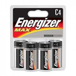 Energizer - E93BP-4 - Energizer C Cell Alkaline Battery - 8350 mAh - C - Alkaline - 1.5 V DC - 4 / Pack