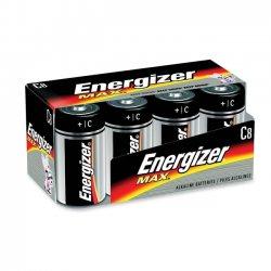 Energizer - E93FP-8 - Energizer Max Alkaline C Batteries - C - Alkaline - 1.5 V DC - 8 / Pack