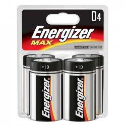 Energizer - E95BP-4 - Energizer Max Alkaline D Batteries - 20500 mAh - D - Alkaline - 1.5 V DC - 4 / Pack