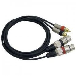 Pyle / Pyle-Pro - PPRC-X05 - Pyle Professional Audio Link Cable - RCA Male - XLR Female - 5ft