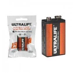 Ultralife Batteries - U9VL-FP6 - Ultralife 9v Lith Foil