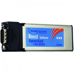 Brainboxes - VX-001-X10 - Brainboxes VX-001 1 Port RS-232 Serial Express Card - 1 x 9-pin DB-9 Male RS-232 Serial