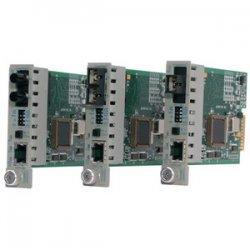 Omnitron - 8363-1-W - iConverter 100Mbps Ethernet Fiber Media Converter RJ45 SC Single-Mode 30km Module Wide Temp - 1 x 100BASE-TX; 1 x 100BASE-LX; Internal Module; Lifetime Warranty