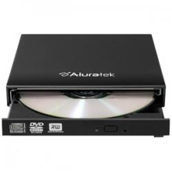 Aluratek - AEOD100F - Aluratek AEOD100F 8x DVD - Double-layer - DVD-RAM/ R/ RW - 8x 8x (DVD) - 24x 24x (CD) - USB - External