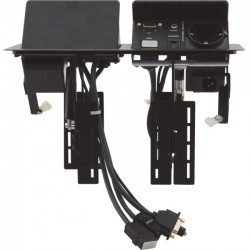 Kramer Electronics - TBUS-202XL(B) - Kramer Dual Pop-Up Table Mount Multi-Connection Solution - 120 V AC / 5 A, 230 V AC Desktop